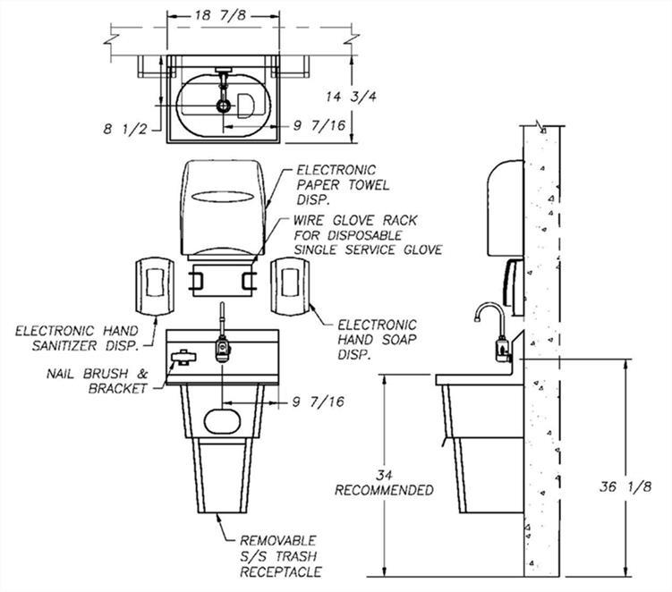 HandwashingforLife HFL5000 Handwash Station Cad Specs